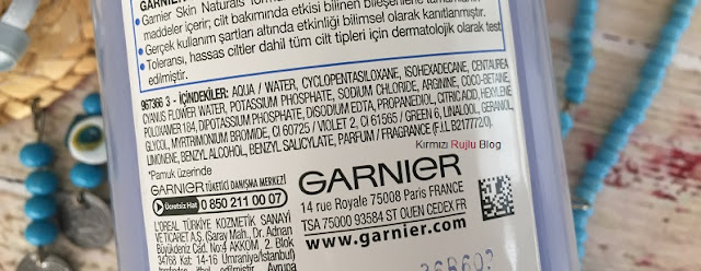 Garnier Mavi Kantaronlu Micellar Temizleme Suyu