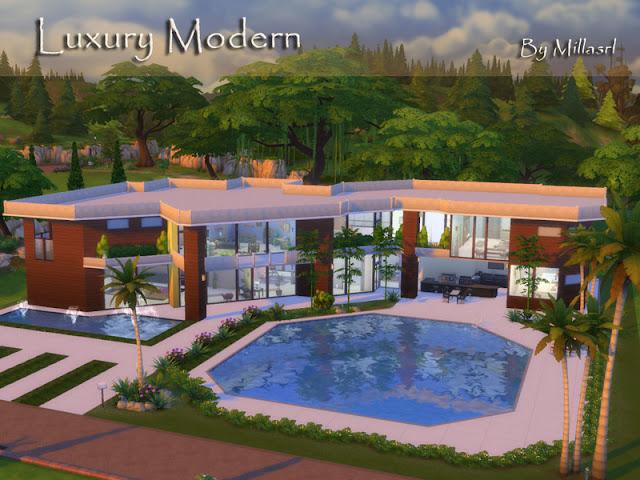 Download Casas Lotes Luxury Modern Para The Sims 4 Knysims