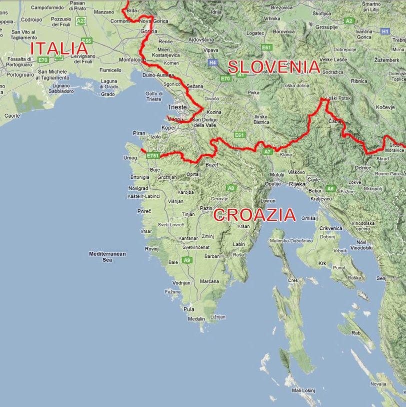 Cartina Della Croazia E Slovenia.Tra Fiume E Trieste Istria Oggi