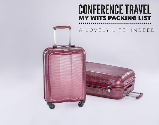 Conference Travel: My WITS17 Packing List and a GIVEAWAY