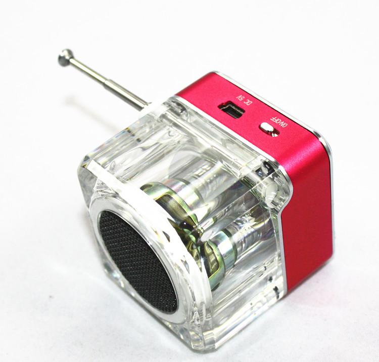 Loa Mini Nizi TT-028 Trong Suốt Có ổ Cắm