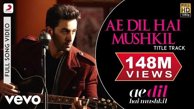 Ae Dil Hai Mushkil Lyrics in Hindi / ऐ दिल है मुश्किल लिरिक्स - RCR Rapper