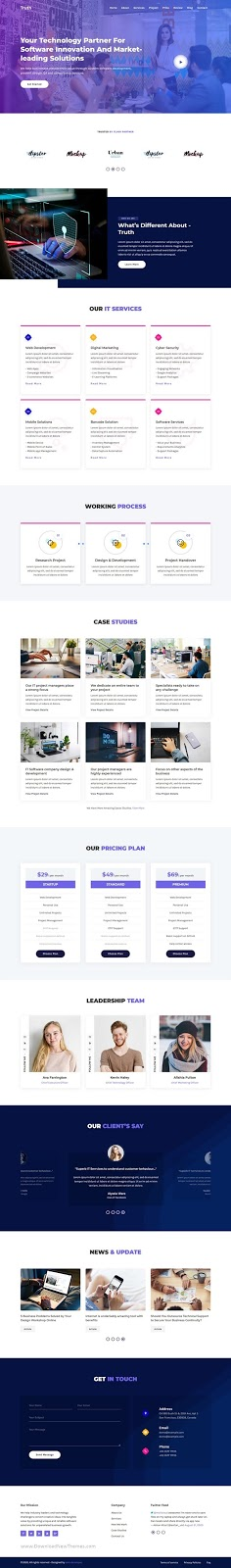 IT Solutions & Agency Website Template