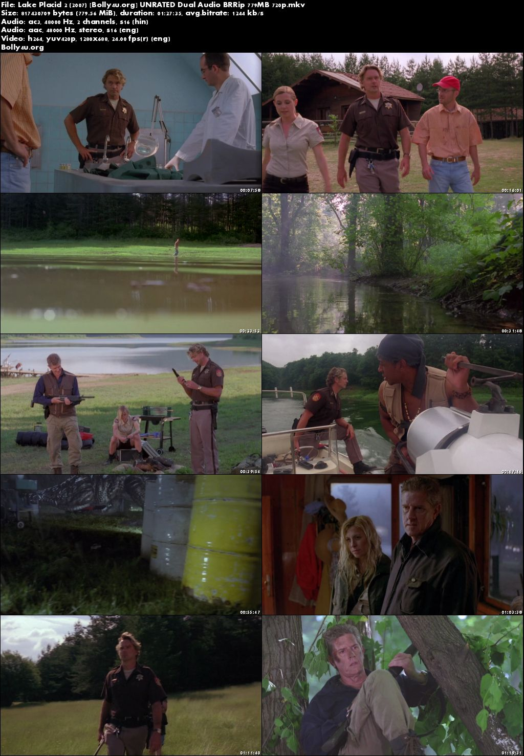 Lake Placid 2 2007 BRRip 300MB UNRATED Hindi Dual Audio 480p Download