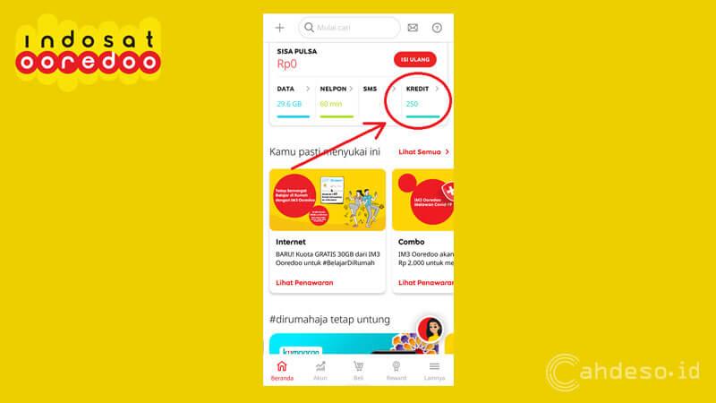 Cek Pulsa OnNet Indosat Lewat Aplikasi MyIM3