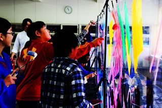 Takeshi Sato helping 36 children in Mie-ken enjoy being creative