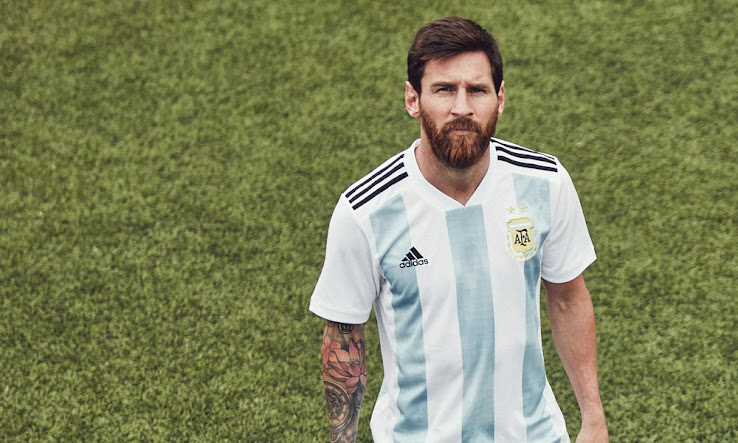 8aa8f58389a Argentina 2018 World Cup Home Kit Released - Footy Headlines