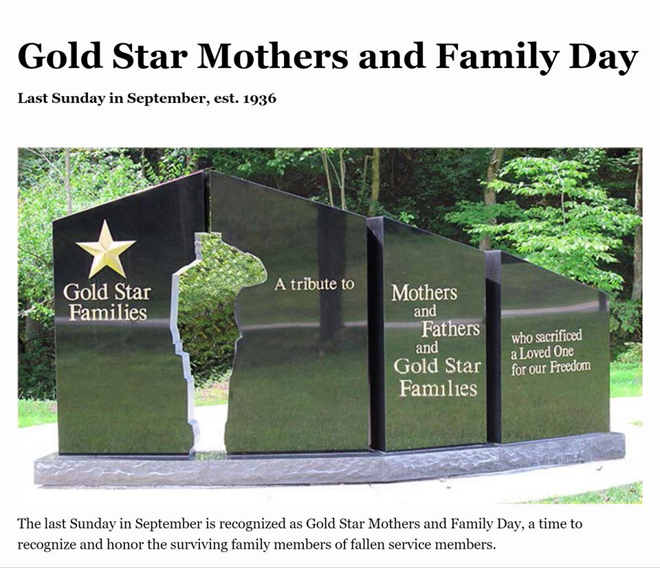 Gold Star Mother's and Family Day Wishes Unique Image