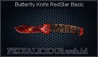 Butterfly Knife RedStar Basic