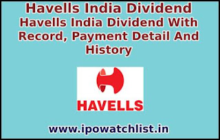 havells india dividend