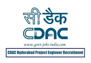 CDAC Hyderabad Project Engineer Recruitment