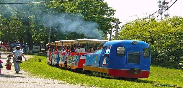 Trenulețul Platoul Cornești din Târgu Mureș.