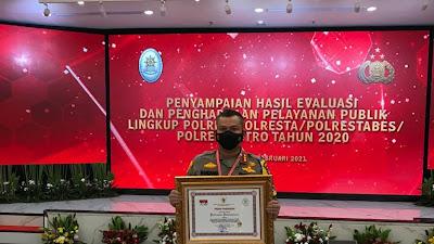 Polresta Pekanbaru Terima Penghargaan Dari Menpan-RB