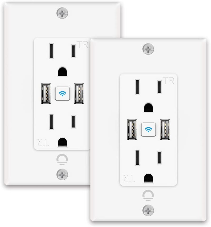 Smart Wi-Fi In-Wall Outlet  35% off