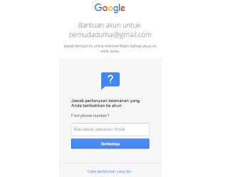 cara membuka email gmail yang lupa Password 100% bisa terbuka langkah 3