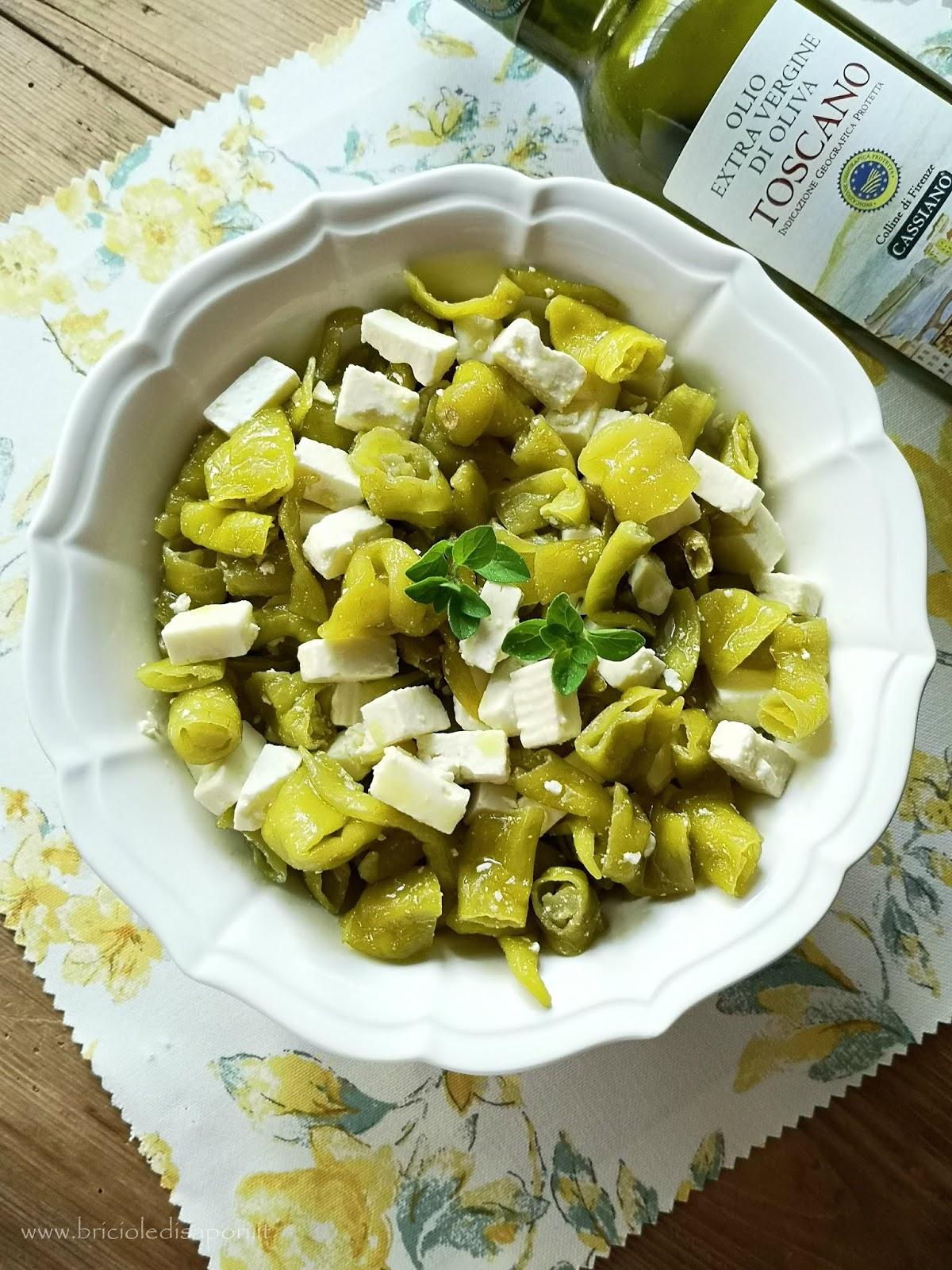 quartirolo con peperoni lombardi in insalata