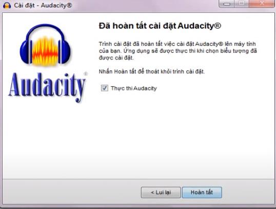 Hướng dẫn cài đặt Audacity trên máy tính windows e