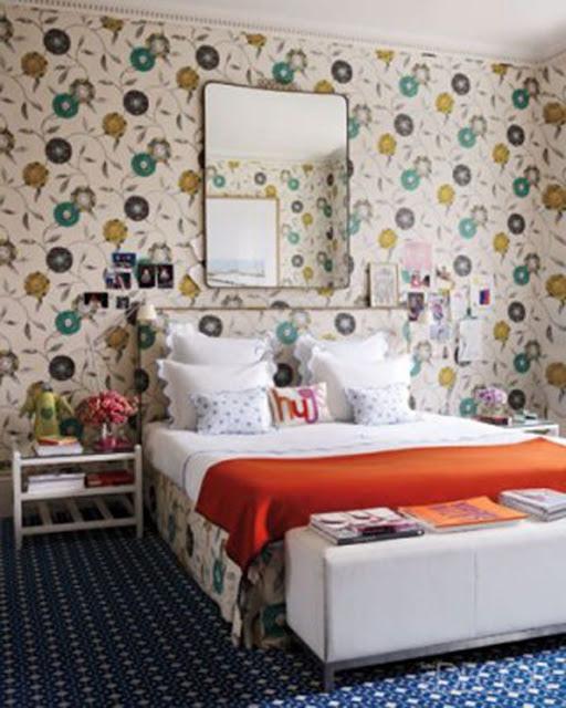 DECORACIÓN DORMITORIOS - 45 Dormitorios con Papel Tapiz