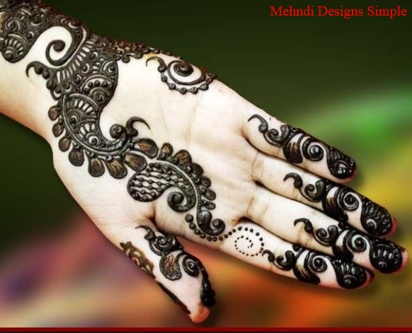 Mehndi Designs Simple front Hand Step by Step , Mehndi