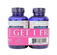 Buy 1 get 1 wellness fish oil isi 75 Omega 3 1000 mg Minyak ikan