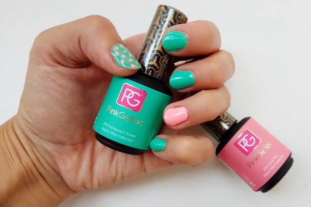 Pink Gellac - Miami Vibe manicura 1
