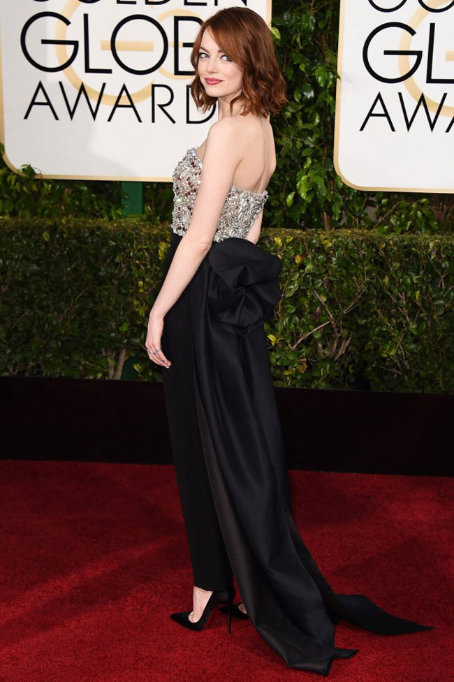 Emma Stone Dazzles in Lanvin at the 2015 Golden Globes