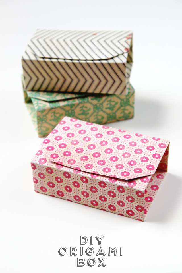 RECTANGULAR DIY ORIGAMI BOXES.