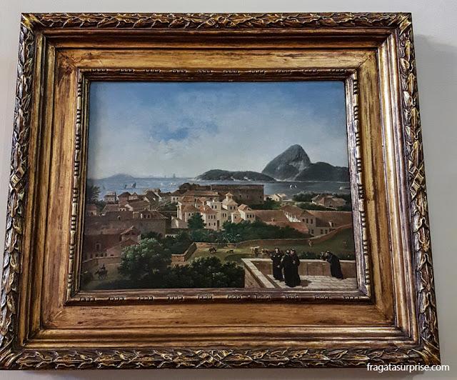 Nicolas Antoine Taunay: Entrada da baía e da Cidade do Rioa partir do terraço do Convento de Santo Antonio (1816)