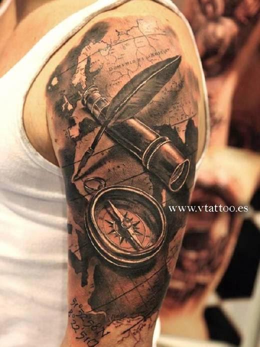 Tatuajes De Brújulas Belagoria La Web De Los Tatuajes