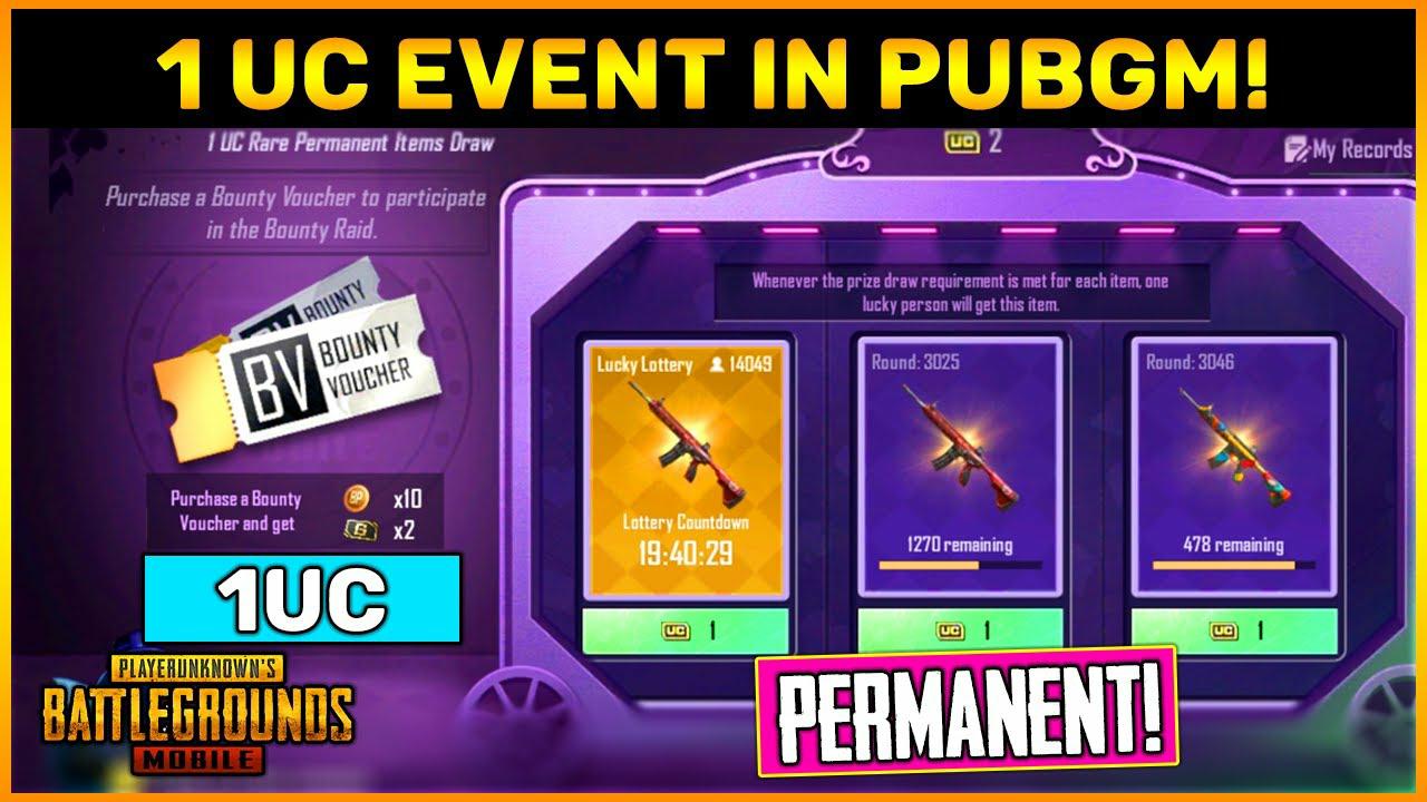 1 UC Bounty Event in PUBG Mobile