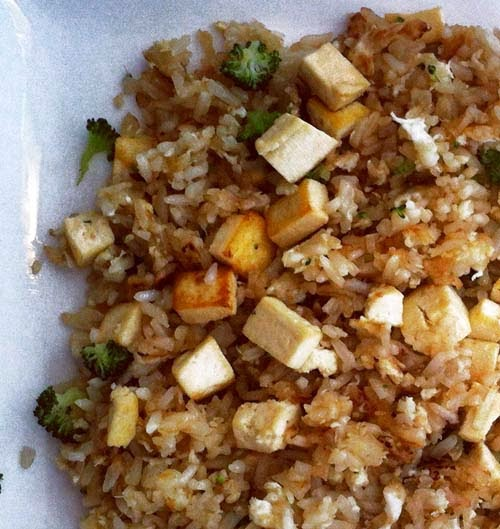 Adding Tofu and Broccoli to basic Egg Fried Rice
