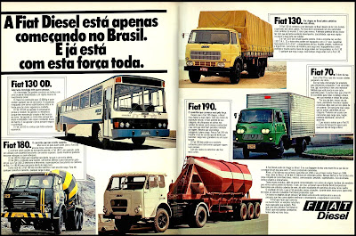 propaganda Fiat Diesel - 1978; Fiat bus; caminhões Fiat; Trucks Fiat; brazilian advertising cars in the 70s; os anos 70; história da década de 70; Brazil in the 70s; propaganda carros anos 70; Oswaldo Hernandez;