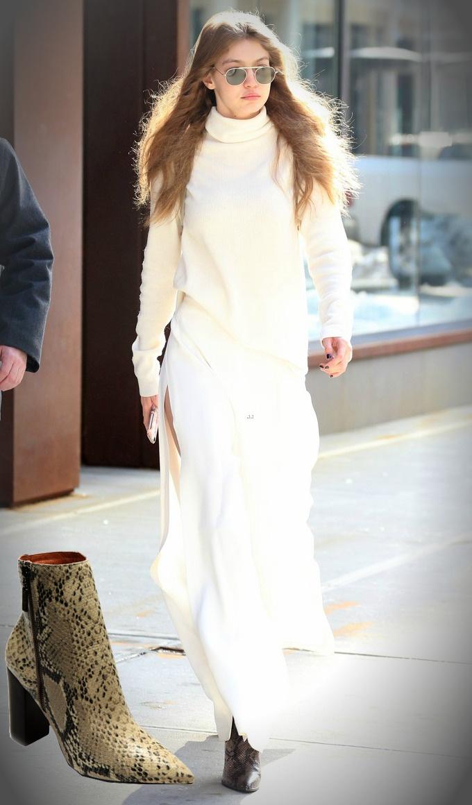 Sapatos das famosas - Gigi Hadid