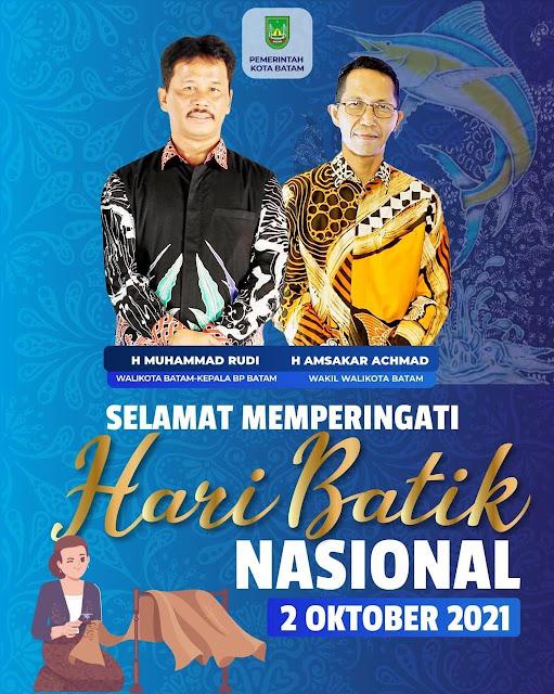 Peringati Hari Batik Nasional, Rudi : Jangan Lupa Mengenakan Batik Disetiap Acara