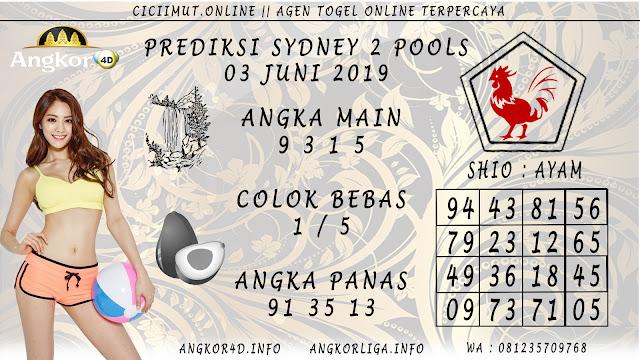PREDIKSI SYDNEY 2 POOLS 03 JUNI 2019