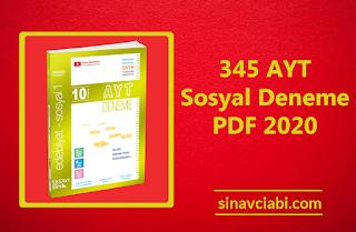 345 AYT Sosyal Deneme PDF 2020