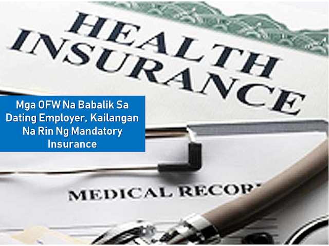 Mandatory Insurance For  All Returning OFWs