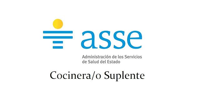 cocinera/o Suplente - Administración de Servicios de Salud del Estado - Centro Departamental de Durazno