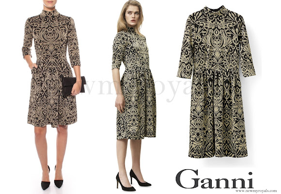 Crown Princess Mary wore GANNI Schiffer Glitter Dress