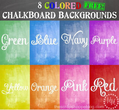 8 Colored Chalkboard Backgrounds
