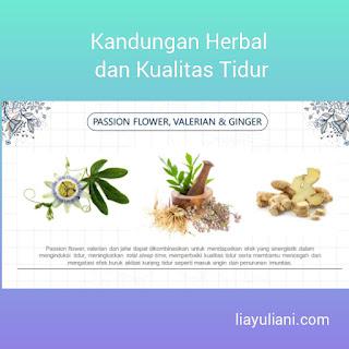 Kandungan herbal dan kualitas tidur