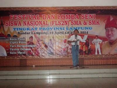 Kota Bandarlampung Gagal Di Fls2n Sma Smk Se Provinsi Lampung