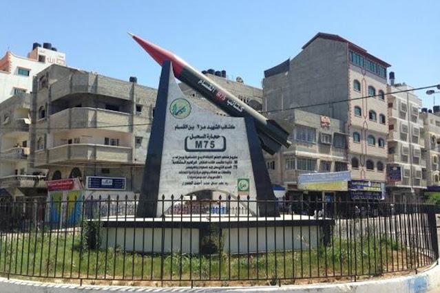 spesifikasi roket hamas, roket hamas m-75, roket hamas hantam israel, roket hamas