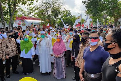 Parade Seni dan Budaya Multi Etnis iringi Selly Manan daftar ke KPU Kota Mataram