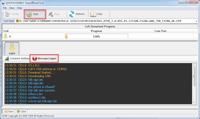 Cara Flash Android Menggunakan QGDP Assembly Download Tool
