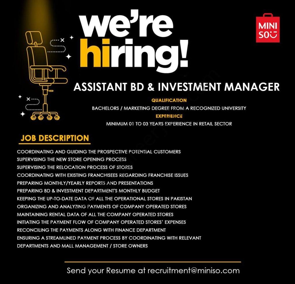 Miniso Pakistan Jobs 2021 in Pakistan