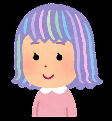 ユニコーンカラーのイラスト(髪)