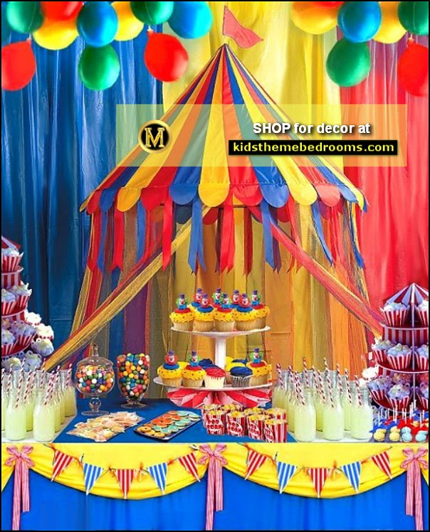 Big Top Canopy Tent  circus Big Top Canopy Tent circus party circus carnivals party decorations