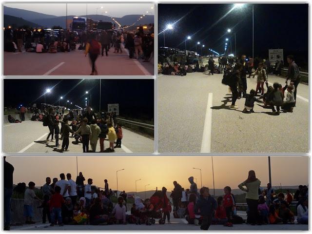 Αποφασισμένοι να μείνουν όλοι την νύχτα στον κόμβο της Εγνατίας,οι πρόσφυγες Από παράδρομους η κυκλοφορία προς Ηγουμενίτσα (+ΒΙΝΤΕΟ)