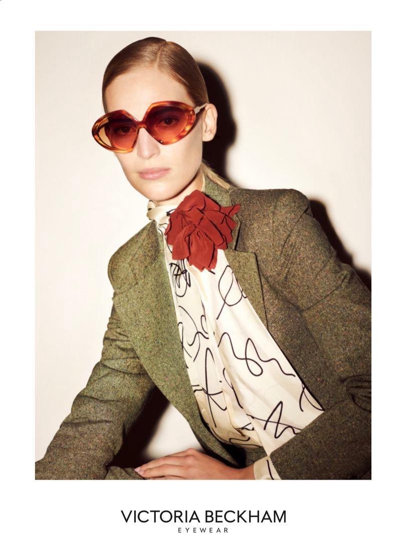 Victoria Beckham SS2020 Eyewear Campaign starring Vanessa Axente